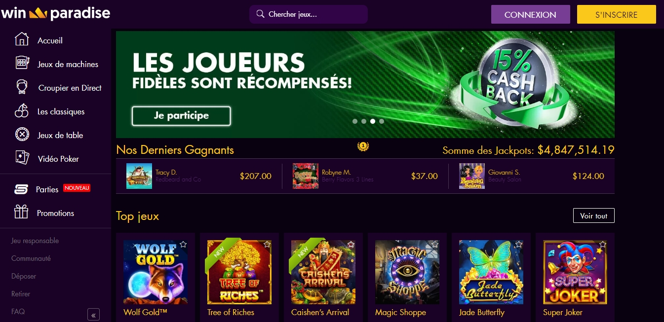 casino winparadise avis